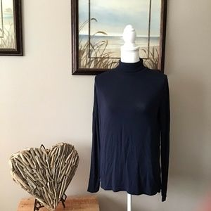 Abercrombie & Fitch Navy Blue Stretch Turtleneck